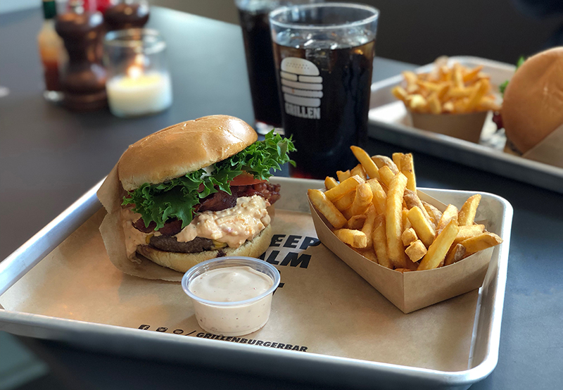 Razorbacks Burger Grillen Burgerbar